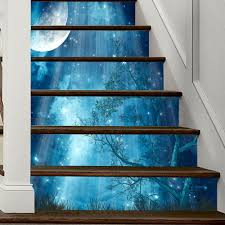 creative 6pcs 3d diy wall sticker stair vinyl art wall decal home