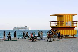 vivid south beach lifeguard houses miami beach florida off