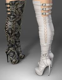 s high boots amelia high boots for genesis 3 s footwear for poser and
