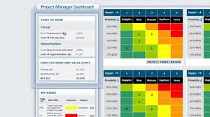 Free Project Dashboard Template Excel Vue Matrix Project Risk Management Software The Portfolio