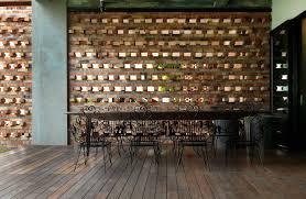 brick wall design feature design futuristic interior brick wall ideas with chocolate
