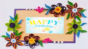 paper greeting cards quilling artwork made paper quilling birthday greeting card