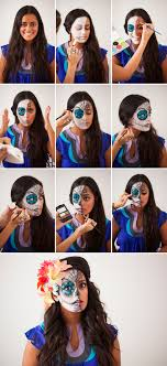 try this sugar skull makeup tutorial for