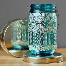 Mason Jar Lights Outdoor by Boho Henna Outdoor Lighting Hand Painted Mason Jar Lantern