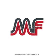 mf design initial letter mf linked design logo stock vector 554110933