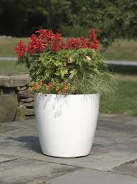 Planter Pots by Large Flower Pots Plastic Rolling Viva Self Watering Planters