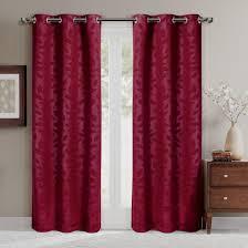 virginia leafy blackout grommet curtain panels set of 2