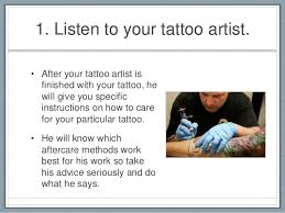 9 tattoo aftercare tips