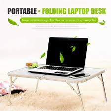 portable laptop notebook pc desk table foldable computer standing
