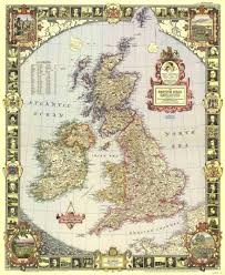 Britain Map National Geographic Society Map Of Great Britain And Ireland 1949