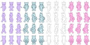 free anthro pony sprite templates for rpg maker by the clockwork
