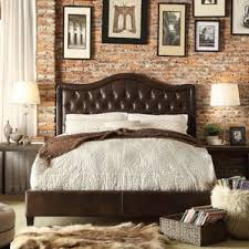 Leather Upholstered Bed Faux Leather Beds You U0027ll Love Wayfair