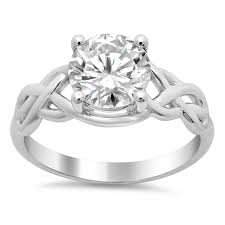 celtic engagement rings celtic knot solitaire engagement ring