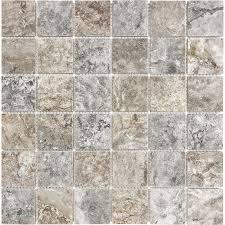 anatolia tile silver ash uniform squares mosaic travertine wall