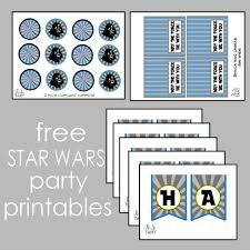 free star wars party printables set includes cupcake toppers