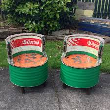 recycled oil drum chair outdoor projects pinterest drums