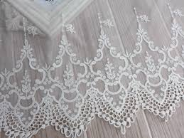 tulle by the yard vintage embroidery lace white tulle lace fabric trim cotton lace
