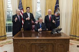 trump in oval office the year for trump and gop lawmakers rocky start smooth finish wsj