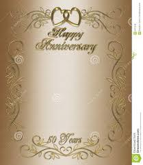 50th wedding anniversary program 50th anniversary invitation border stock illustration