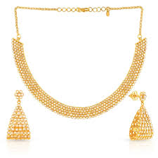 gold with diamond necklace images Buy era uncut diamond necklace set ucnkmjns0213 for women online jpg