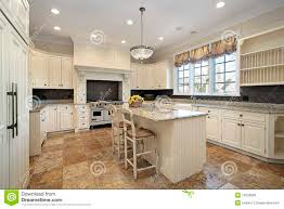 Light Wood Kitchen Kitchen With Light Wood Cabinetry Stock Photo Image Of Lighting