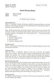 diagnostic report template sle diagnostic report for speech language pathology