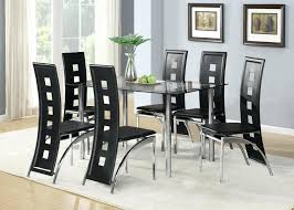 Dining Table And Chairs For 6 Black Dining Room Table Set Bikepool Co