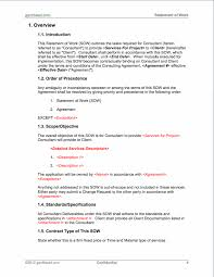 projectmanagement com statement of work template pmp