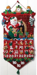 bucilla must be santa advent calendar felt applique kit 86312