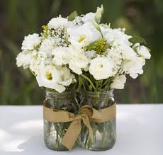 jar wedding centerpieces white flowers for jar wedding centerpieceswedwebtalks