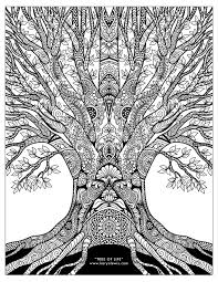 coloring pages for adults tree tree of life doodle art free adult coloring page karyn lewis