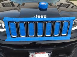 mojave jeep renegade bye bye chrome grill trim hello plasti dip flat black jeep
