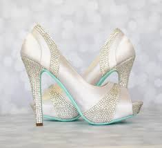 wedding shoes rhinestones wedding shoes white platform peep toe wedding shoes with silver