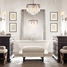Brushed Nickel Mirror Bathroom by Modern Bathroom Lighting Design Ideas Double Handle Fucet On Side