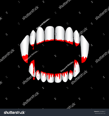 halloween black background image vector vampire monster bloody teeth on stock vector 497809615