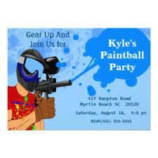 paintball birthday invitations u0026 announcements zazzle