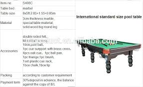 pool table l shade replacement pool table room size minimum chart bumper in standard ideas 7