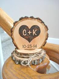 country cake topper rustic wedding cake topper wood burned heart personalized