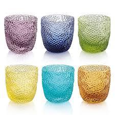 bicchieri ivv tricot set liqueur glasses arlecchino ivv