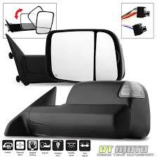 dodge ram tow mirror glass replacement 2009 2012 dodge ram power heated smoked led signal towing mirrors