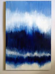 blue and white painting custom made to order abstract painting by paintingsbykegilmore