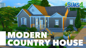 Country House The Sims 4 Speed Build Modern Country House Youtube