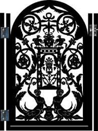 metal gate ornamental italian garden iron steel entry walk