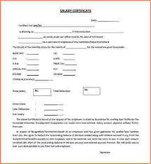 sample salary certificate letter salary certificate template 28