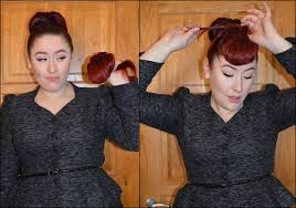 pinup clip in ponytail with bangs lookin bangin classy rebel miss amy may