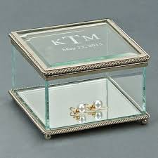 Personalized Photo Jewelry Box Personalized Engraved Rectangular Glass Jewelry Box 3 25 Inch By