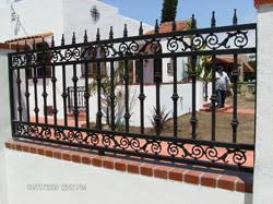 wrought iron fences and ornamental iron fence of san diego san