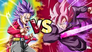 super saiyan 4 future trunks rage vs ssj rose goku black dragon