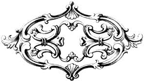 free vintage clip fancy frame with ornament oh so nifty image