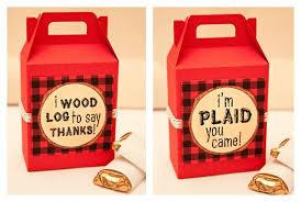 piggy bank party favors market monday i m a lumberjack lumberjack favors piggy banks